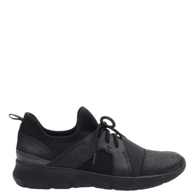 Womens sneaker transfer black side
