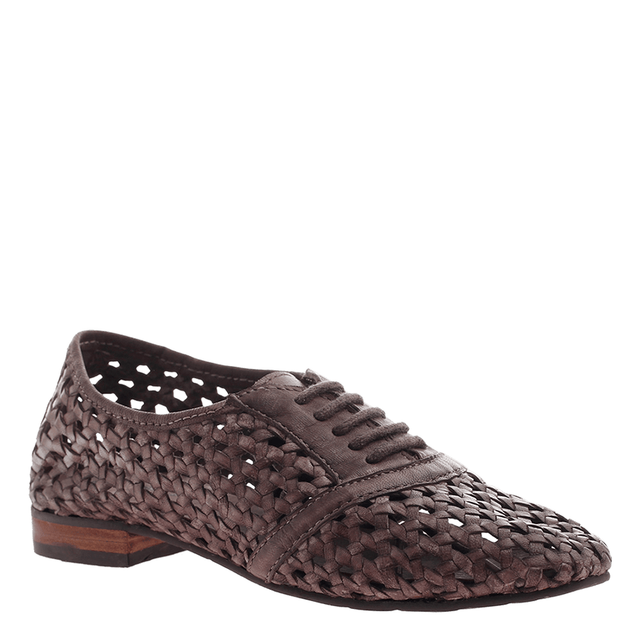OTBT, Althea, Charcoal Grey, basket weave shoe