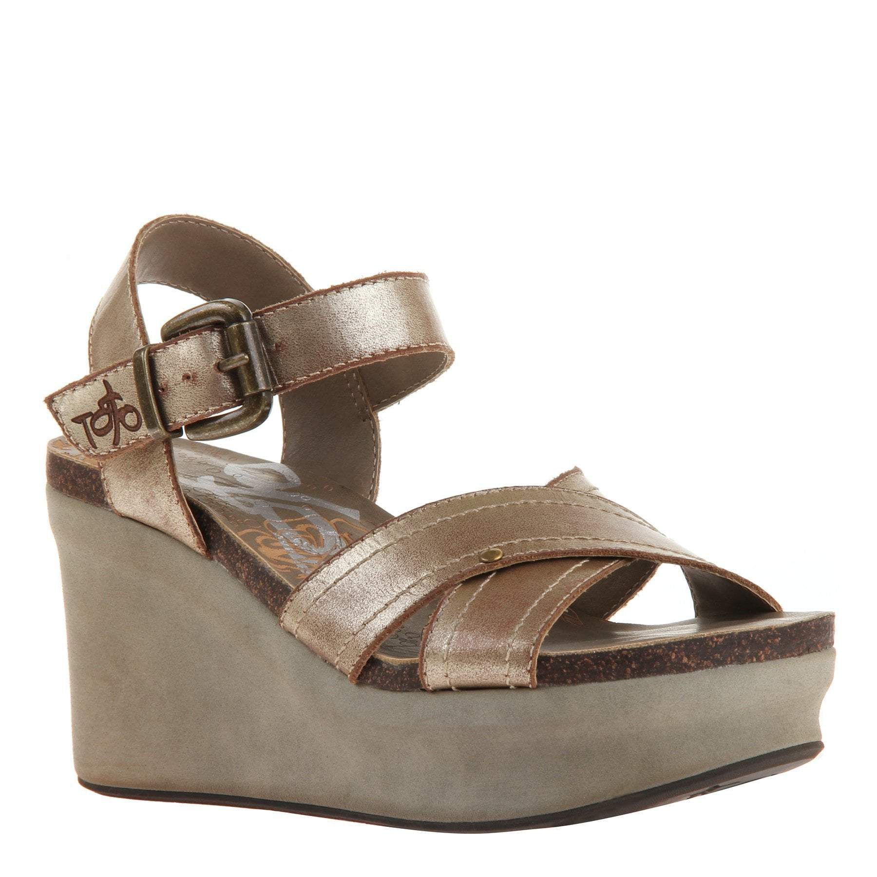Bee Cave Womens Wedge in Gold original view