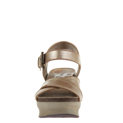 Bee Cave Womens Wedge in Gold front view