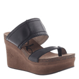 BROOKFIELD in NEW BLACK Wedge Sandals