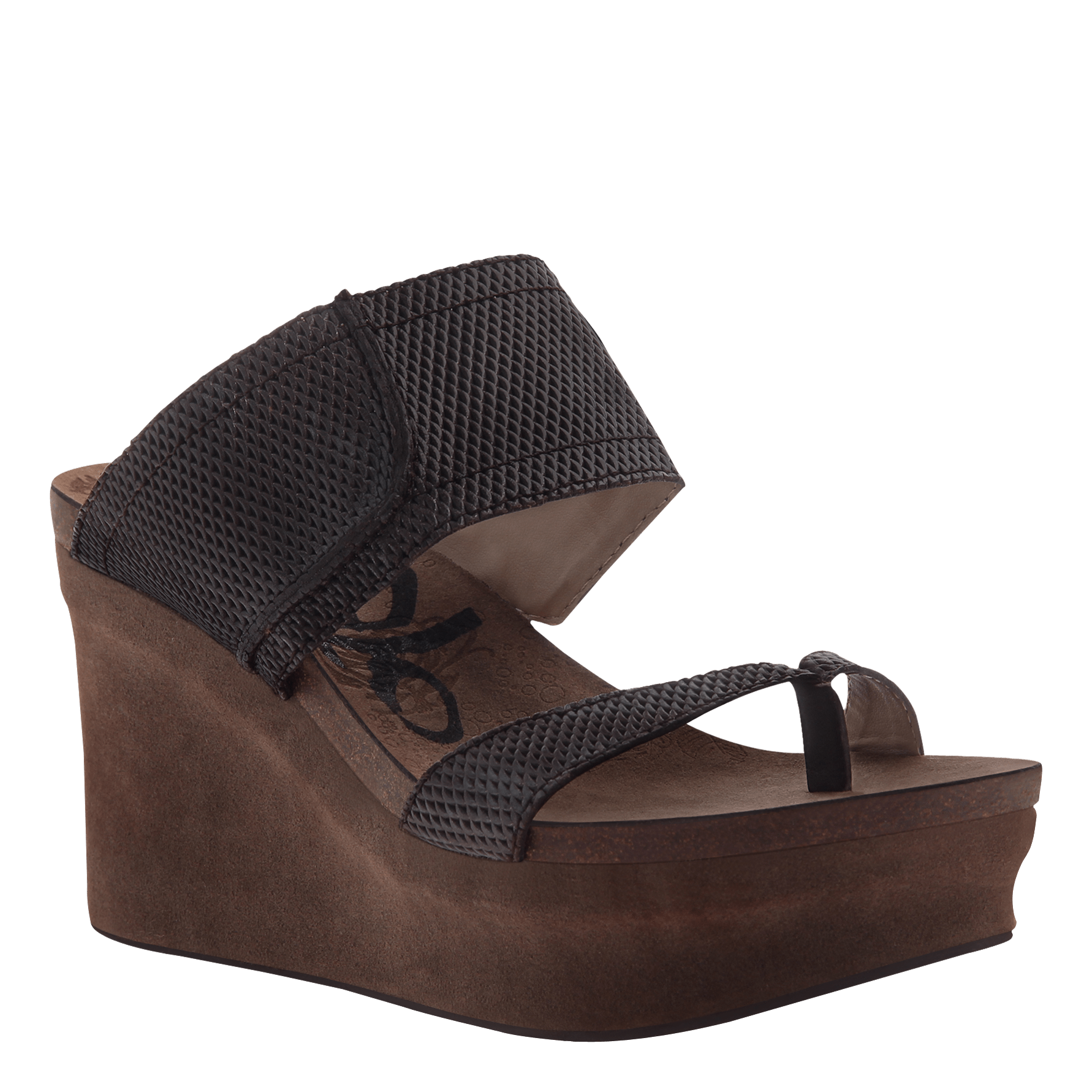 Brookfield womens wedge in Dark Brown Mesh original view