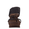 Brookfield womens wedge in Dark Brown Mesh front view
