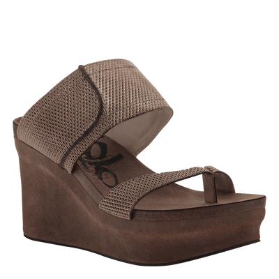 Brookfield wedge in Gold Mesh original view