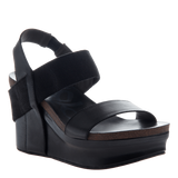 BUSHNELL in BLACK Wedge Sandals