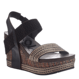 BUSHNELL in DARK BROWN FABRIC Wedge Sandals