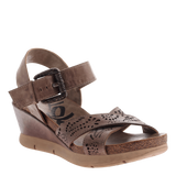 Gearhart in Grey Pownder Wedge Sandals