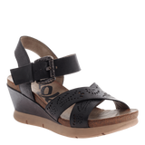 GEARHART in BLACK Wedge Sandals