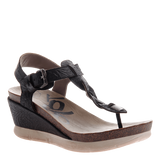 GRACEVILLE in BLACK Wedge Sandals