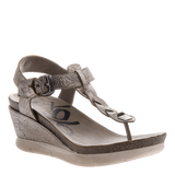 GRACEVILLE in LIGHT PEWTER Wedge Sandals