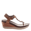 Graceville wedge in Tawny Brown side view