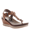 Graceville wedge in Tawny Brown