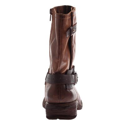 CASWELL in MEDIUM BROWN Mid-Shaft Boots