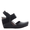 Rexburg women's wedge in new black side view