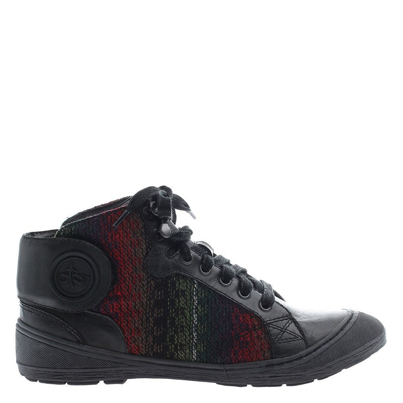 OTBT, Providence, Black, Fabric sneaker with ties