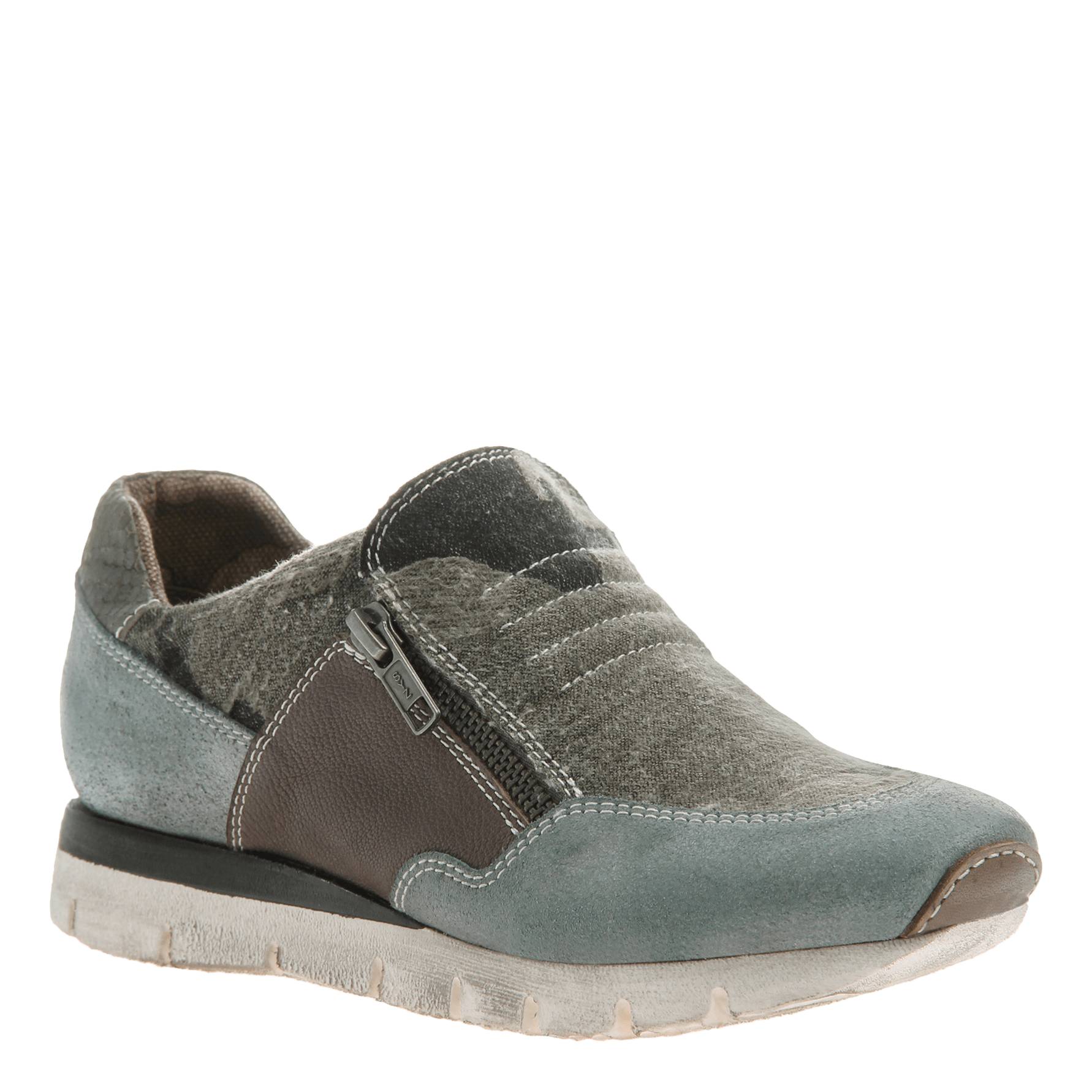 Sewell women's double zip up sneaker in blue grey