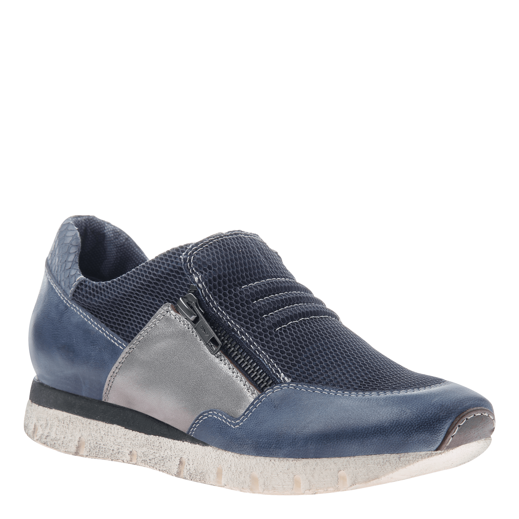 Sewell women's double zip up sneaker in blue