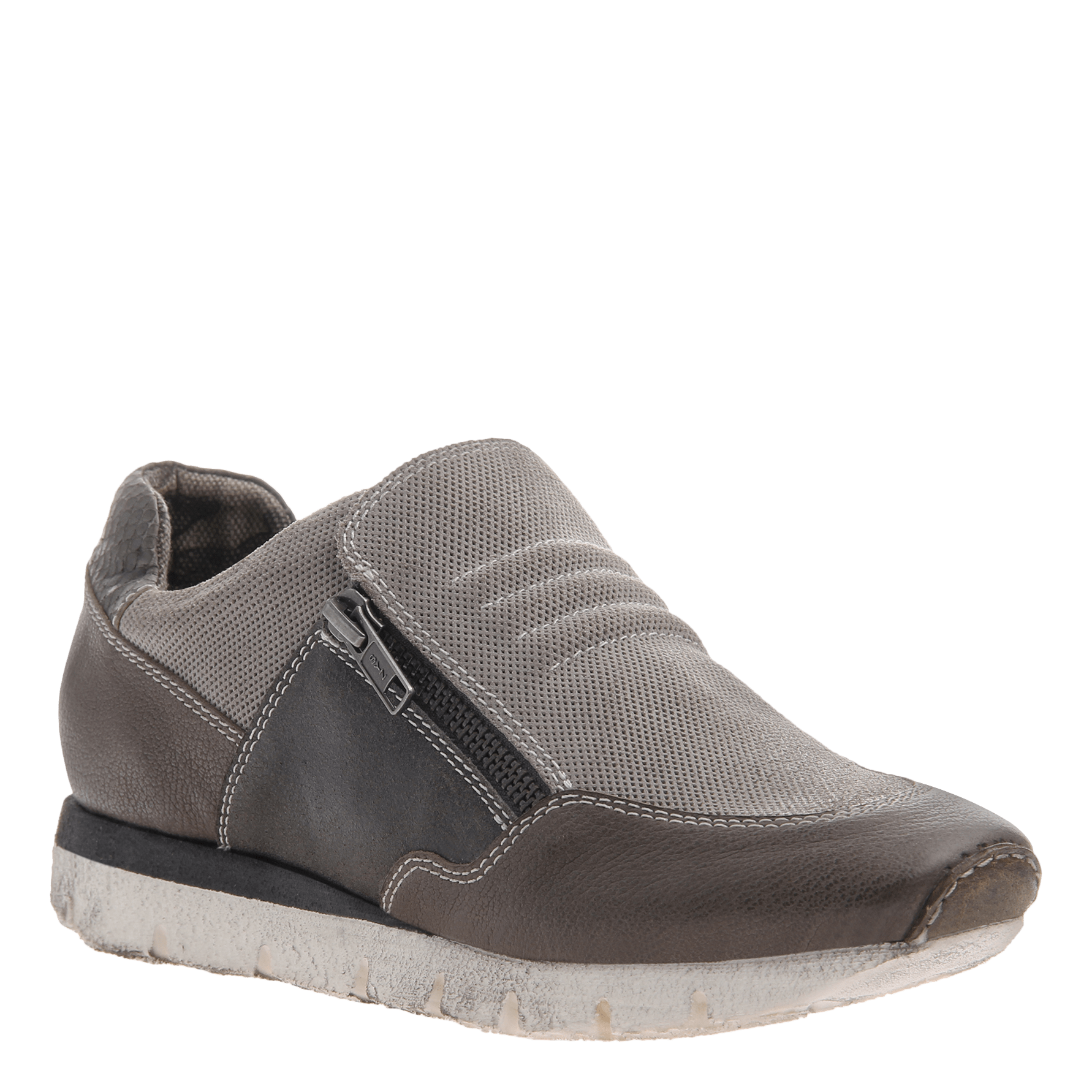 Sewell double zipper sneaker in grey
