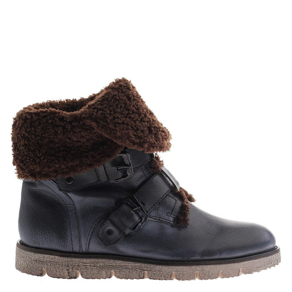 OTBT,  Black Jack, Black, Fur Winter boot with buckle straps