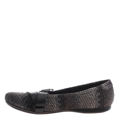 PLYMOUTH in NEW PEWTER Ballet Flats