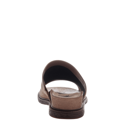 Women's flat slide drifter in elmwood back view