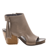 Free Spirit heeled open toe sandal in stone side view