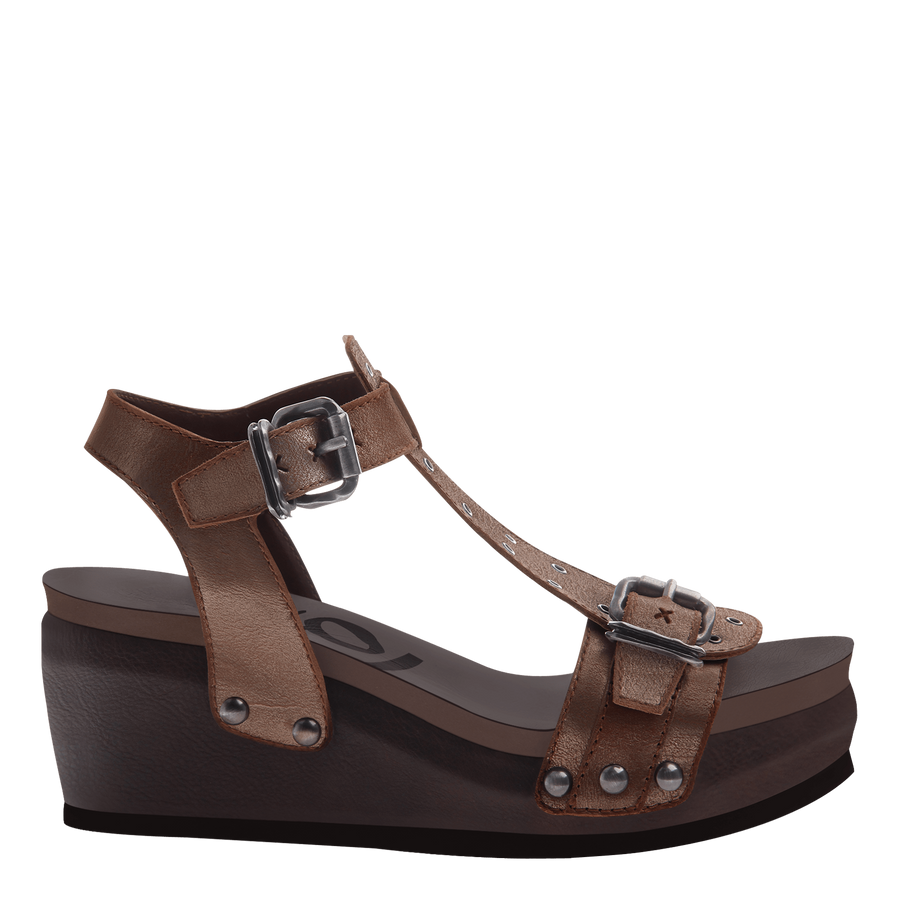 CARAVAN in NEW BRONZE Wedge Sandals