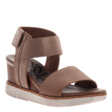 COSMOS in MID TAUPE Wedge Sandals
