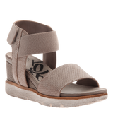 COSMOS in STONE Wedge Sandals