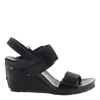 Trailblazer women's black wedge outside view