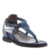 Braided strap wedge sandal Earthly in Blue