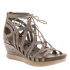 Nomadic Women's gladiator wedge in Light Pewter