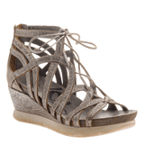 NOMADIC in LIGHT PEWTER Wedge Sandals