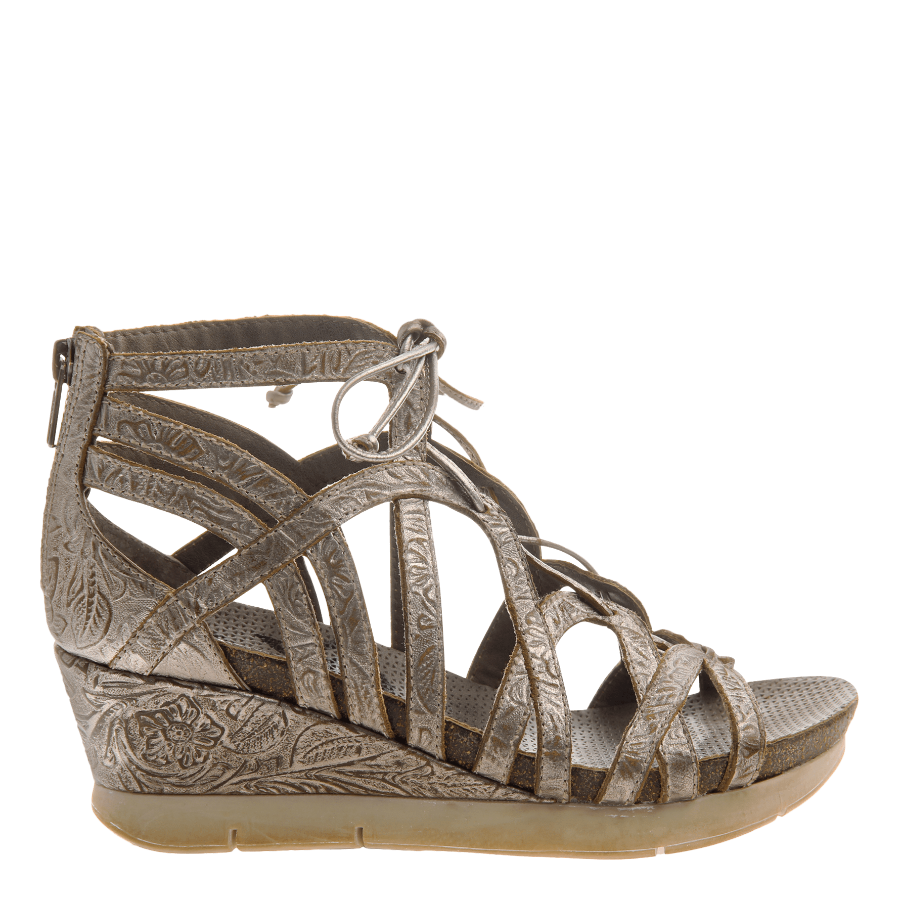 Nomadic In Light Pewter Wedge Sandals Women S Shoes By Otbt