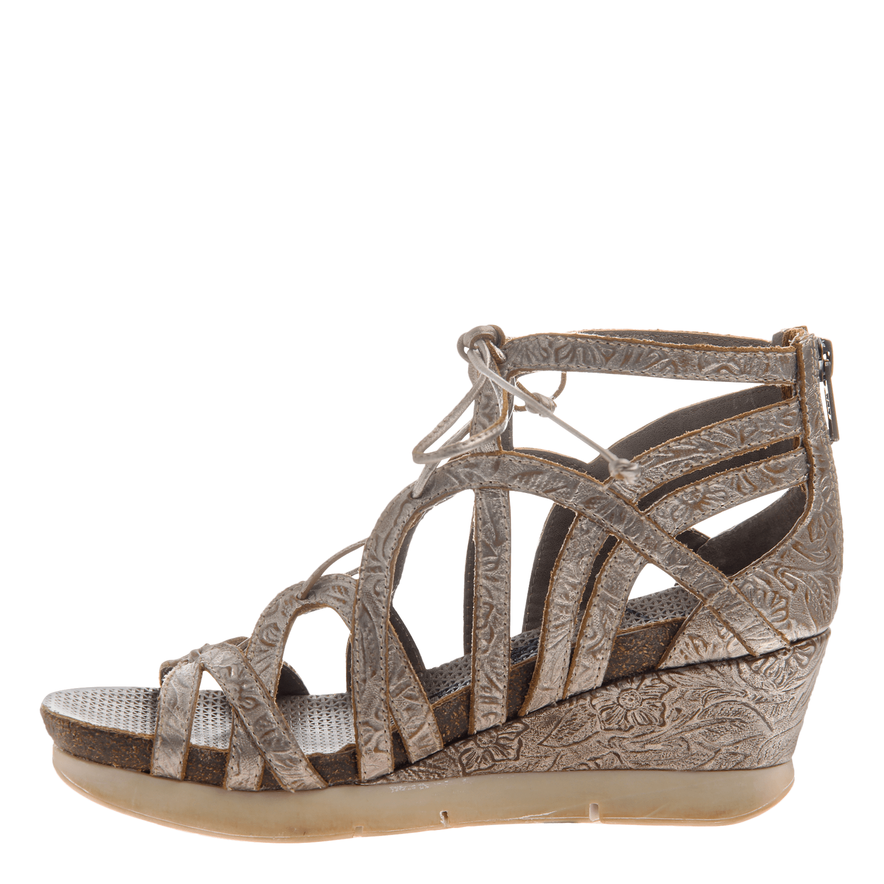 99f2a35a4683 Nomadic women gladiator wedge in light pewter inside view png 1782x1782 Pewter  wedges