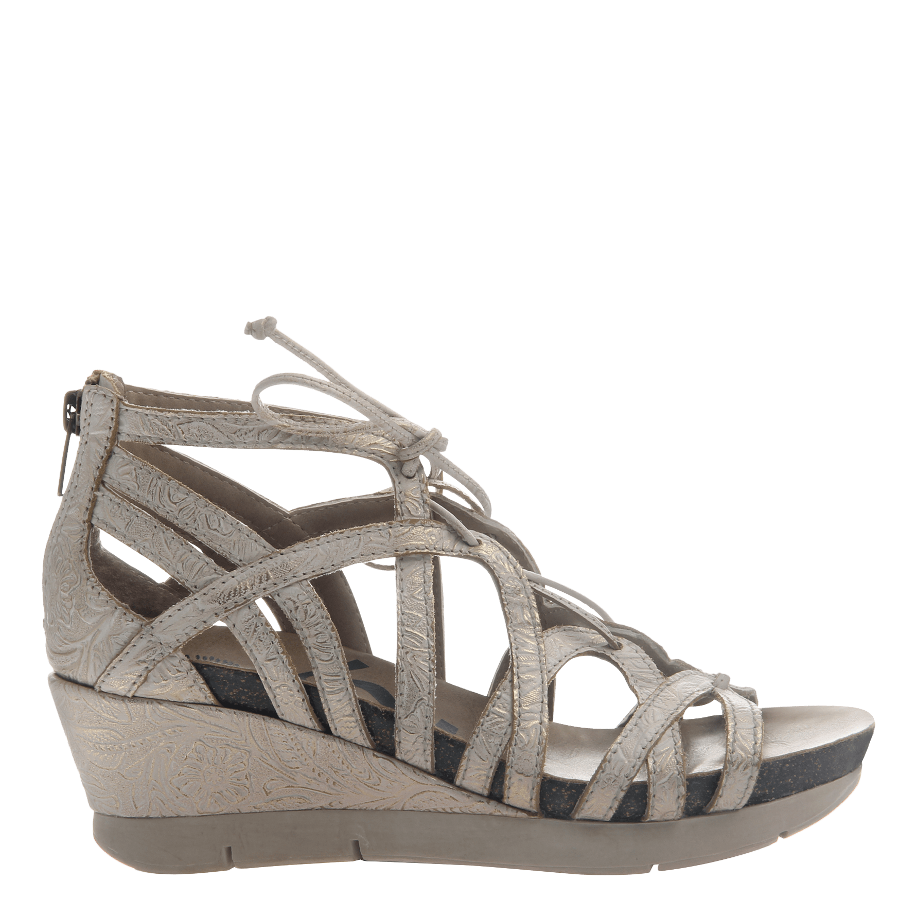 7585686e735 Nomadic Womens wedge gladiator sandal side view