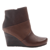 Dharma women's ankle boot in acorn outside view