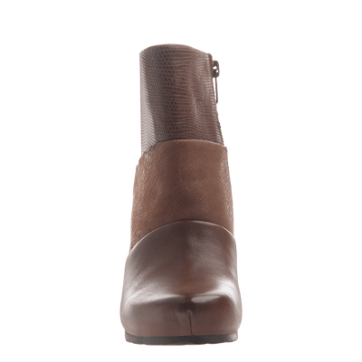 Dharma women's ankle boot in acorn front view