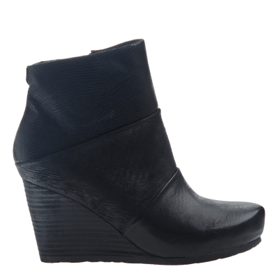 Dharma women's ankle boot in black side view