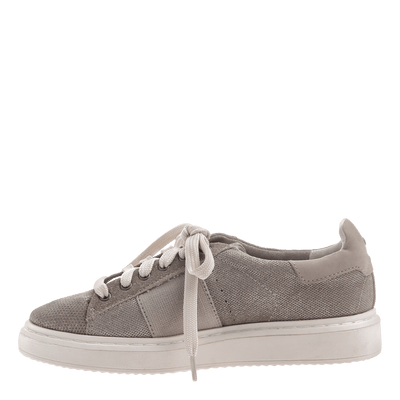 Normcore women's sneaker in Grey Silver inside view