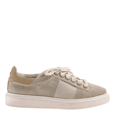 Normcore women's sneaker in Mid Taupe side view