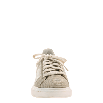 Normcore women's sneaker in Mid Taupe front view