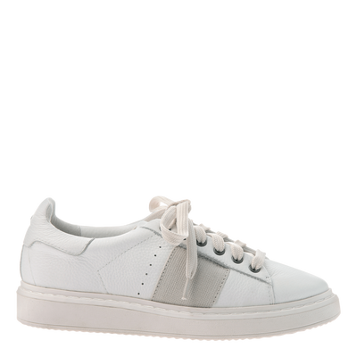 Normcore women's sneakers in white side view