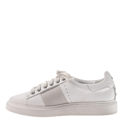 Normcore women's sneakers in white inside view