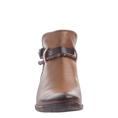 Low Rider women's bootie in butterscotch front view