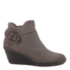 Rocker women's wedge ankle boot in stone side view