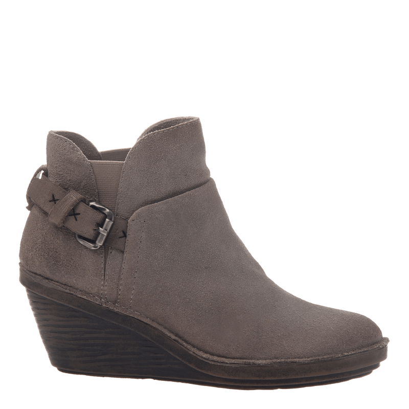 Rocker women's wedge ankle boot in stone