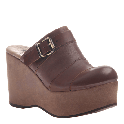 Womens platform wedge Journey in Acorn