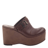 Womens platform wedge Journey in Acorn side view