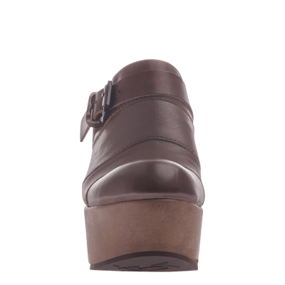 Womens platform wedge Journey in Acorn front view